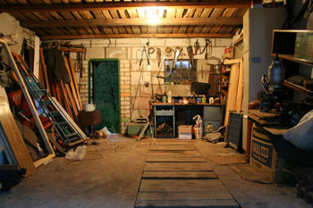Interior of a garage