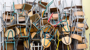 Pile of office chairs