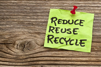 Recycle and reuse on post-it note